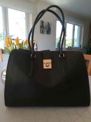 Furla Lederhandtasche schwarz