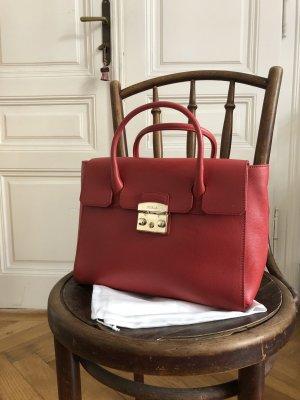 Furla Briefcase brick red-bright red leather