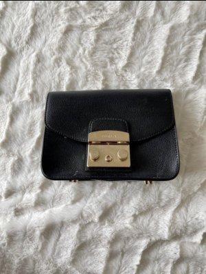 Furla Mini sac noir-doré cuir