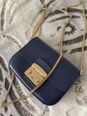 Furla Minitasje donkerblauw