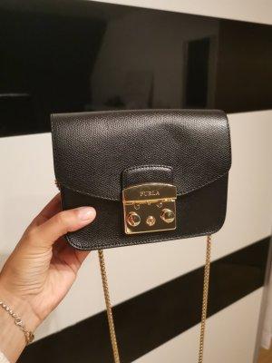 Furla Minibolso negro-color oro