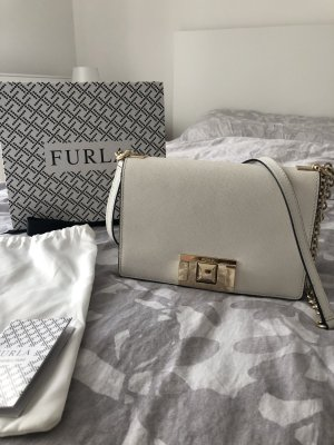 Furla College Bag white leather