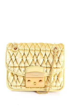 Furla Minitasche goldfarben Steppmuster Casual-Look