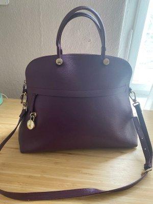 FURLA Piper Large Violet Saffiano Leather