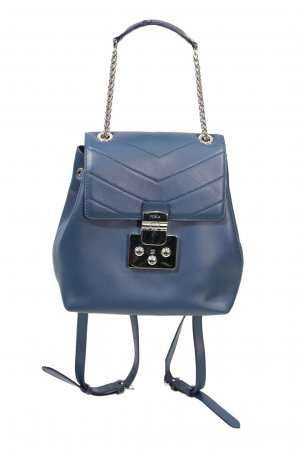 Furla Laptop Backpack blue leather