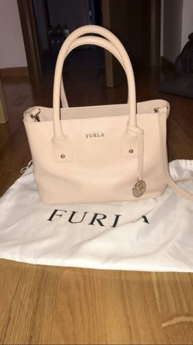FURLA Sand Leather Medium Serena Tote