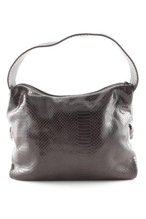 Furla Shoulder Bag dark brown wet-look