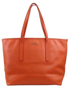 Furla Schultertasche in Orange aus Leder