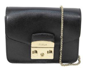 Furla Schultertasche in Schwarz aus Leder