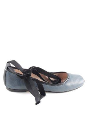 Furla Ballerina aperta sul tallone blu-nero stile casual