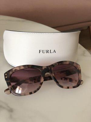 Furla Sonnenbrille beige braun rosa