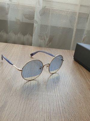Furla Okrągłe okulary przeciwsłoneczne złoto-niebieski