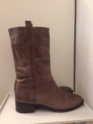 Furla Fur Boots brown-light brown