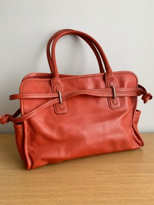 Furla Satchel red leather