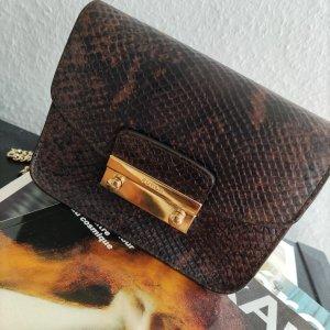Furla Shoulder Bag bronze-colored leather