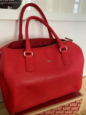 Furla Bowling Bag brick red leather