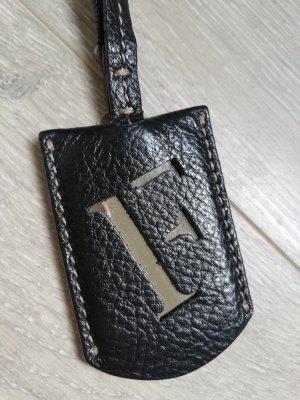 Furla Shopper black-silver-colored leather