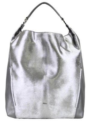 Furla Tragetasche in Silber aus Leder