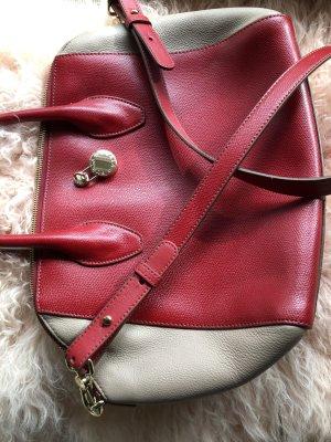 Furla Bolso tipo cesta rojo ladrillo-beige Cuero