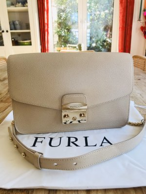 Furla Crossbody bag cream leather