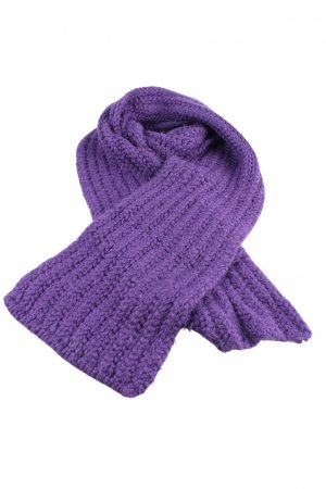 Furla Woolen Scarf lilac cable stitch casual look