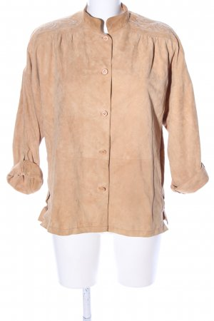 furs ettex Leather Blouse nude casual look
