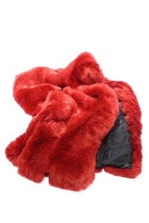 FUSHI Stola rosso-nero stile casual
