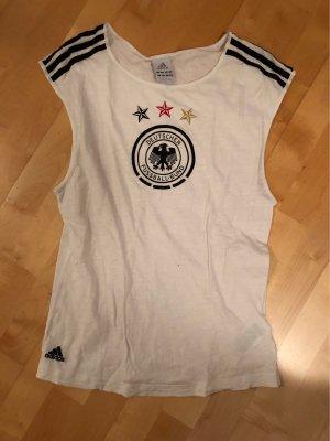 Adidas Top sportowy biały-czarny