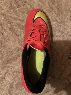 Nike Zapatos de marinero rojo neón-amarillo neón