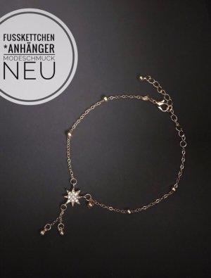 Fußkettchen Kette Schmuck Modeschmuck neu blogger jewelry vibtage boho Sommer