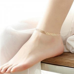 Anklet dark yellow