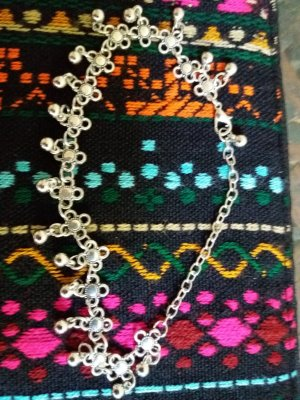 Anklet silver-colored