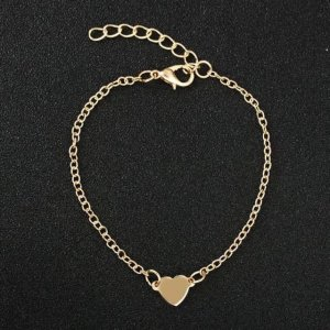 Anklet gold-colored metal