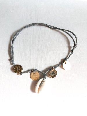 handmade Bransoletka na stopę Wielokolorowy