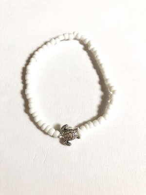handmade Anklet white-silver-colored