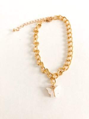 Anklet gold-colored-white