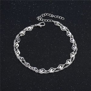 1 brand Anklet silver-colored