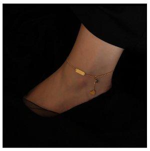 Bransoletka na stopę złoto