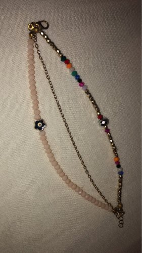 Anklet gold-colored-pink