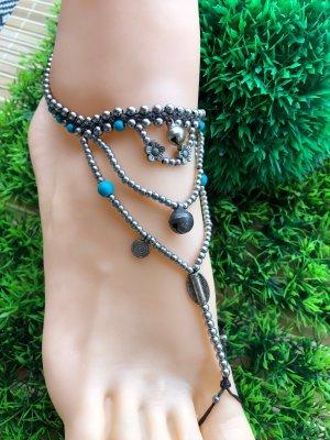 Fußkette Barfuß Sandale Glöckchen Boho Ethno