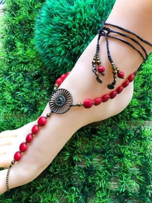 handmade Cavigliera bronzo-rosso mattone Cotone