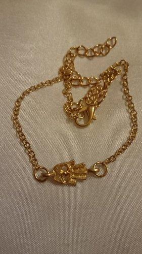 Tobillera color oro