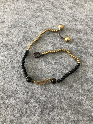 handmade Cavigliera nero-bronzo Cotone
