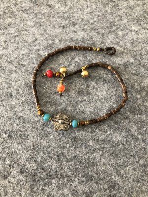 Anklet multicolored cotton