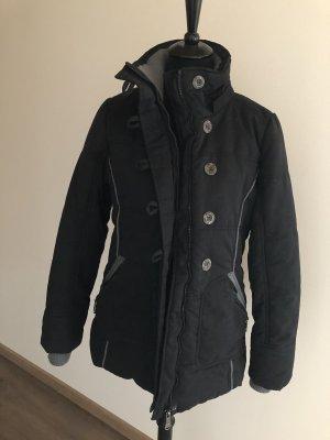 Fussl Abrigo de invierno negro