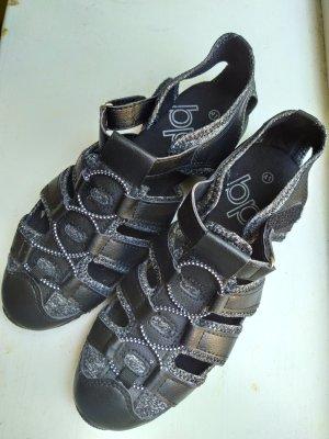 bpc Comfortabele sandalen wit-zwart