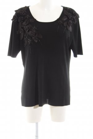 Futura Moda Strickshirt schwarz Casual-Look