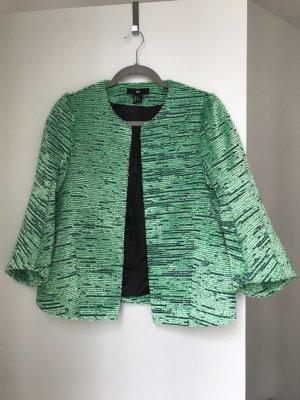 H&M Blazer en tweed vert menthe-vert