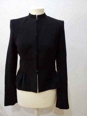 Futuristischer, cleaner, schwarzer HUGO BOSS Blazer, Größe 36
