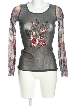 Fuzzi Netzshirt Blumenmuster Elegant